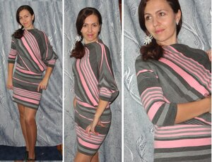 Платье перекошенный крой