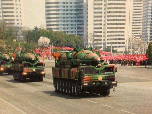 Парад на улицах Пхеньяна