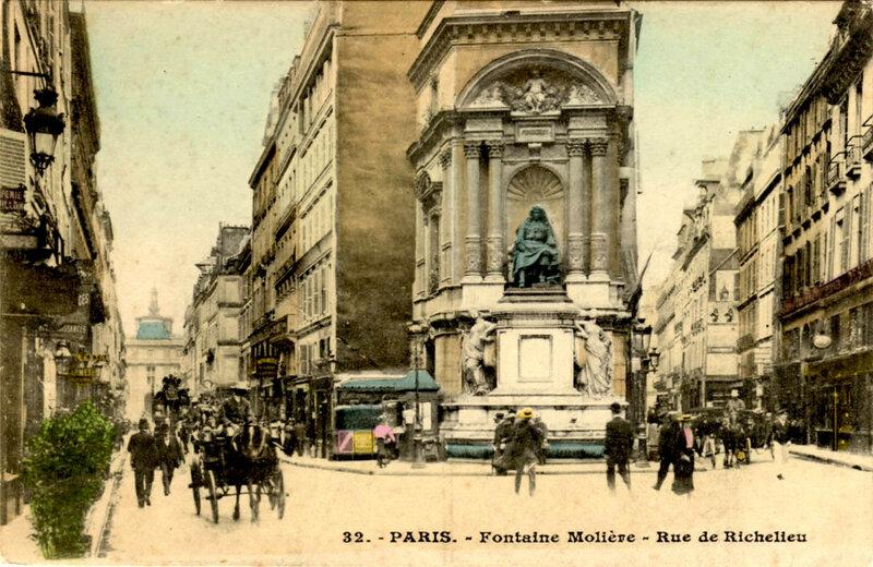 Фонтан Мольера в Париже