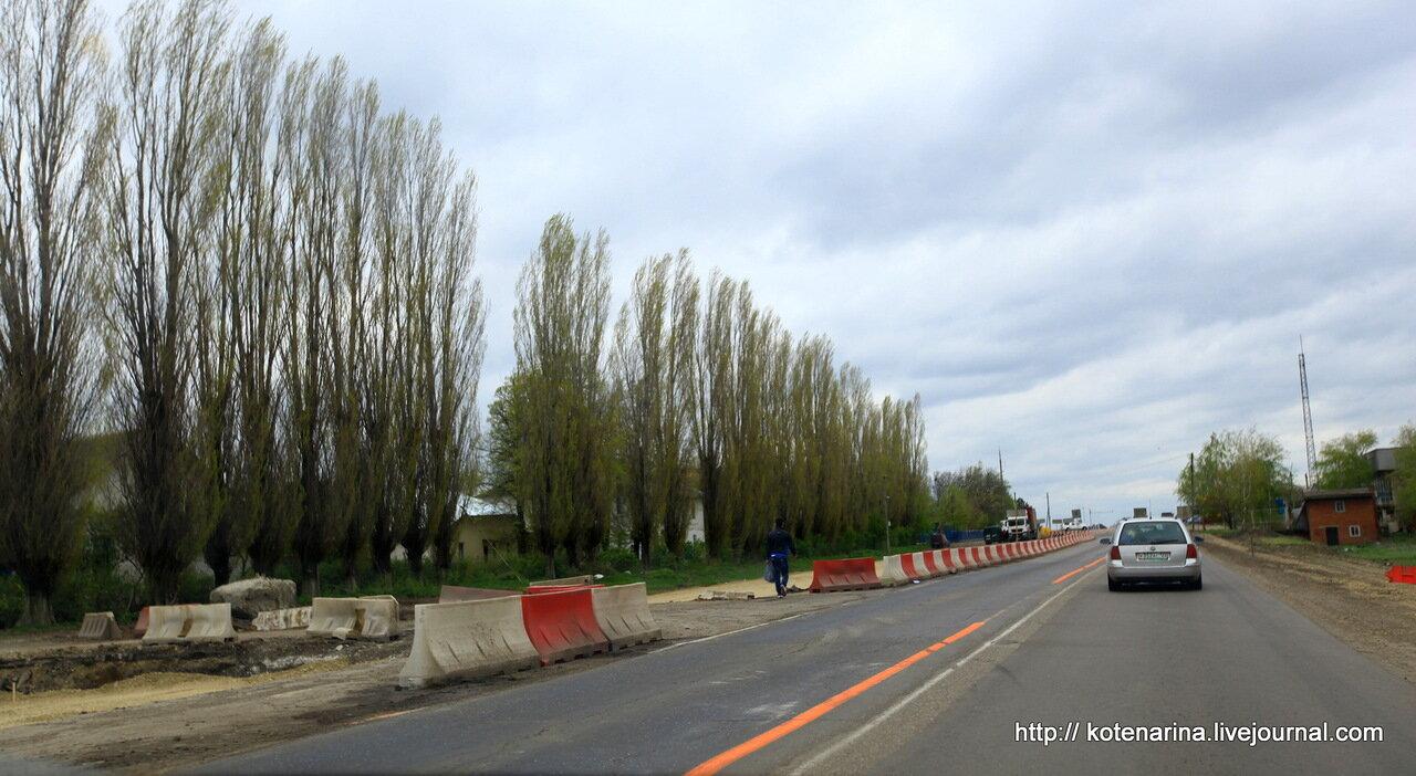 М4 Дон Краснодарский край реконструкция Кореновск Динская 18.04.2013