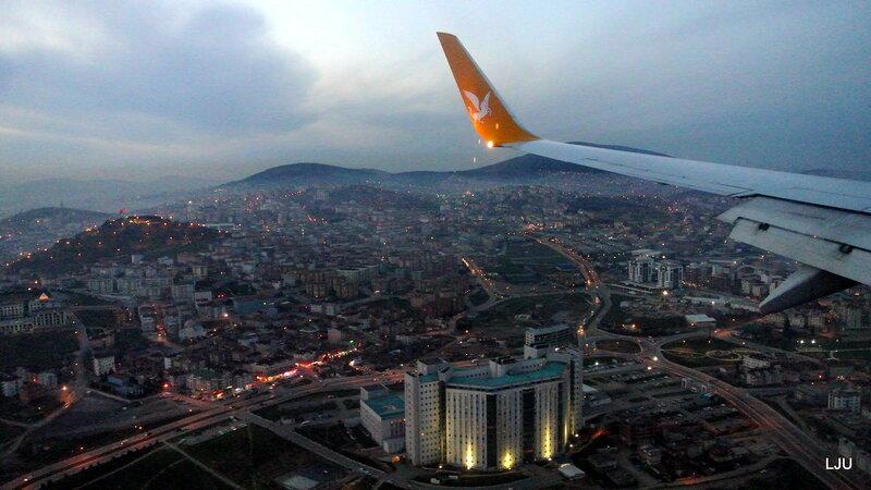 Подлетая к Стамбулу..