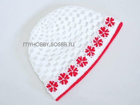 В схеме вязания шапки