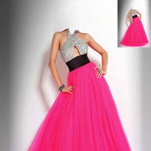 Шаблон для фотошопа - в прекрасном платье 0_ca093_eaa4e634_M