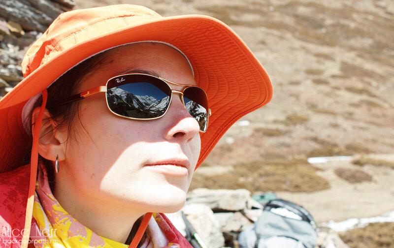 Непальский стеклянный Ray Ban и моя модная шляпа