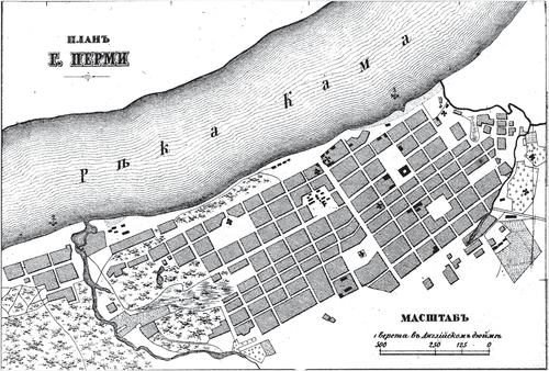 Генплан города Перми на 1876 год