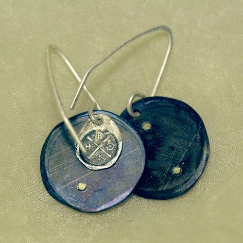 серьги титановые с монетами Ивана Грозного
