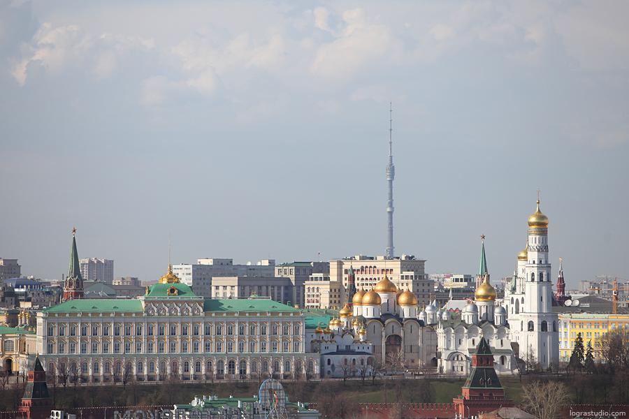 Москва с крыши