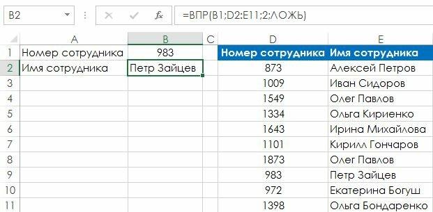 Рис. 120.2. В этой таблице поиска требуется точное совпадение