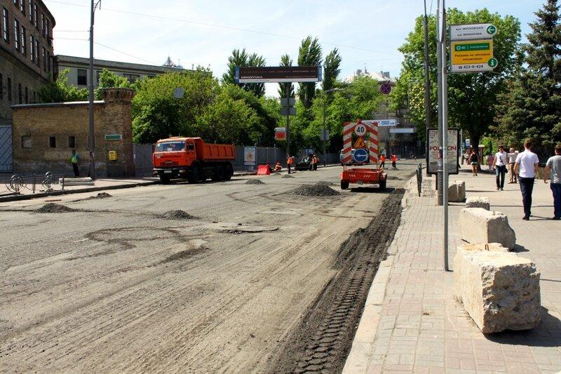 Ремонт дороги на улице Грушевского