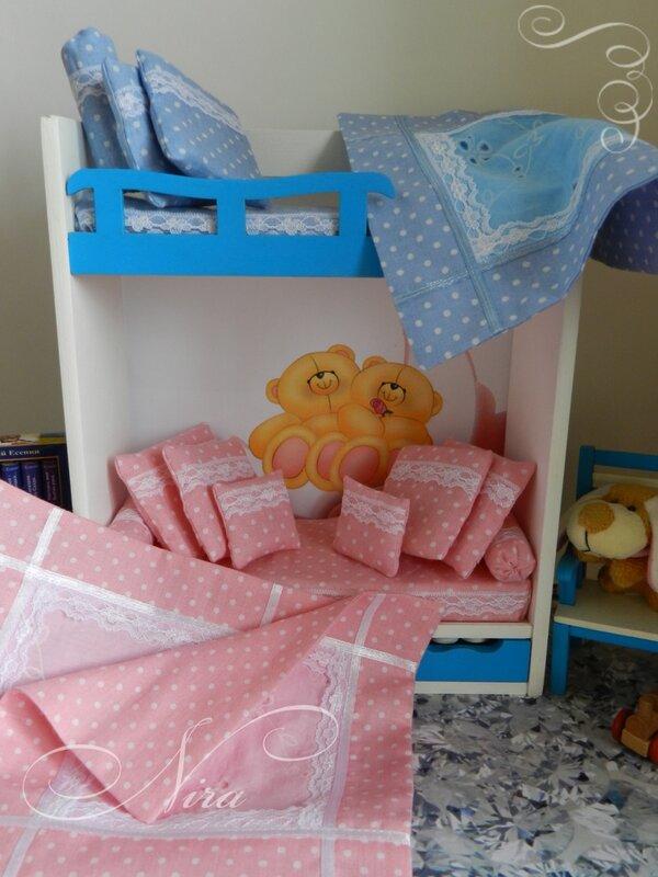 Постель для кукольной кроватки сшить своими руками 56