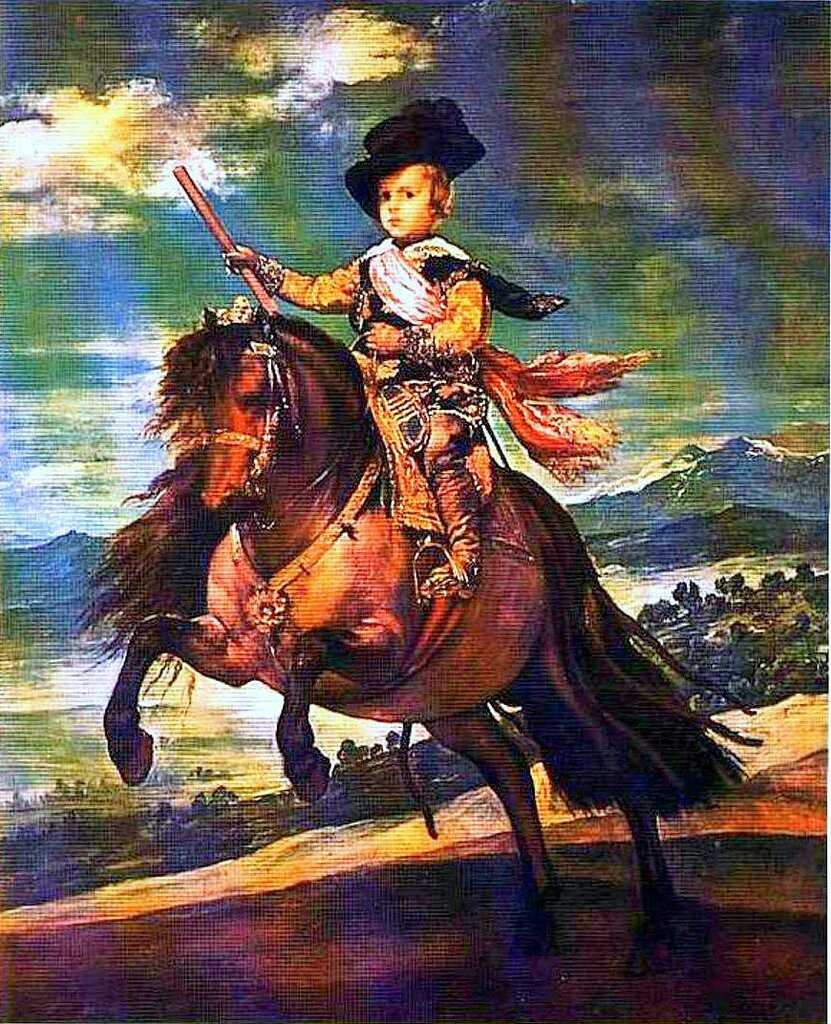 Картины старых мастеров. Диего Веласкес, Конный портрет инфанта Балтазара Карлоса