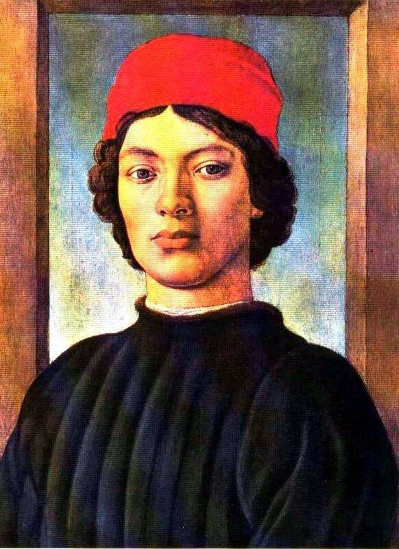 Картины старых мастеров, Филиппино Липпи, Портрет молодого человека