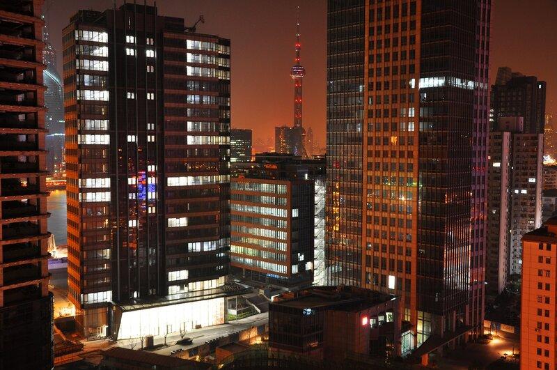 Китай. Шанхай. Вечерний город