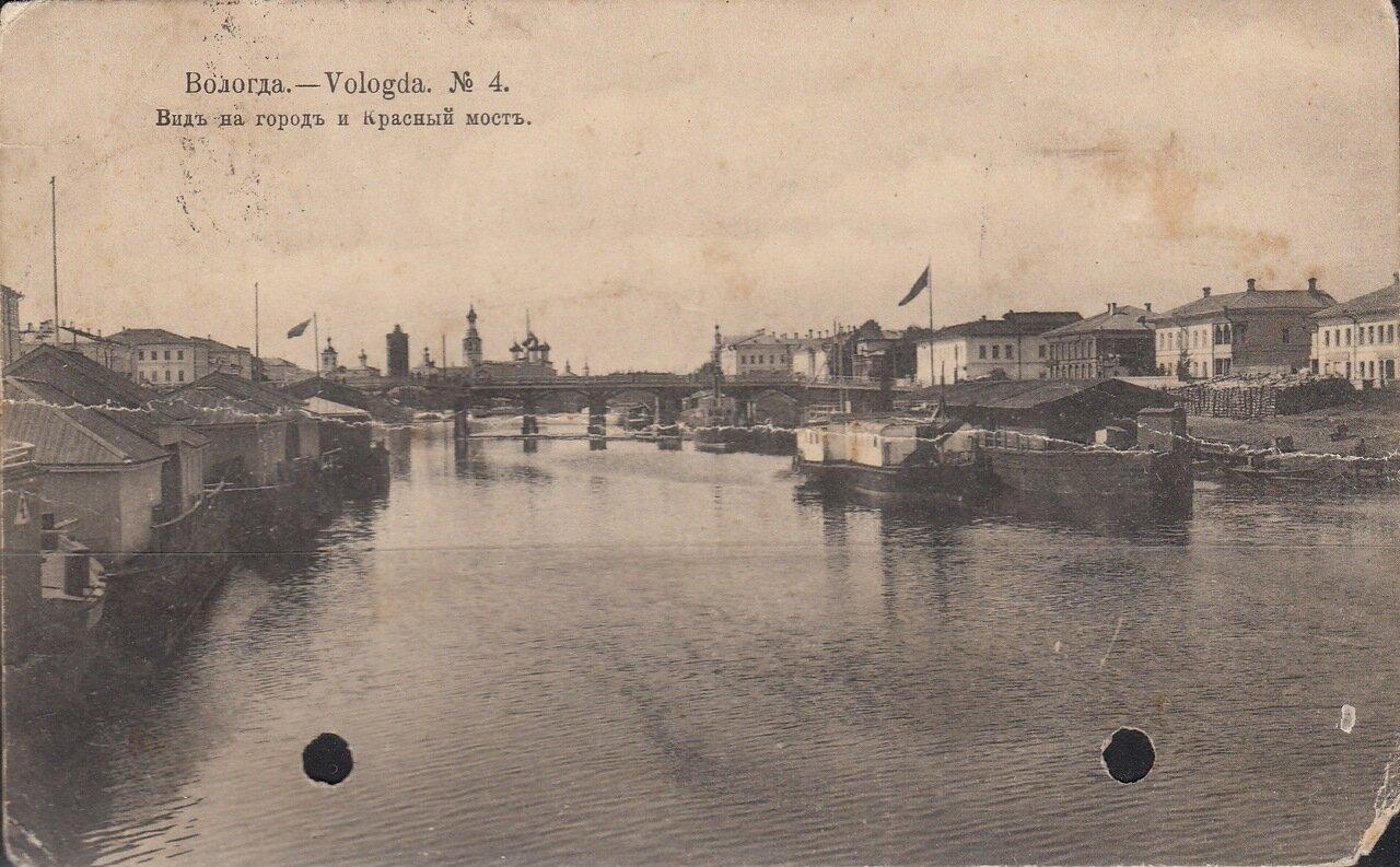 Вид на город и Красный мост