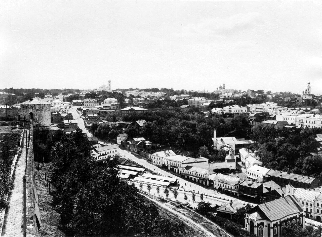 Зеленский съезд, Почаинский овраг и Ильинская гора с кремлёвской стены