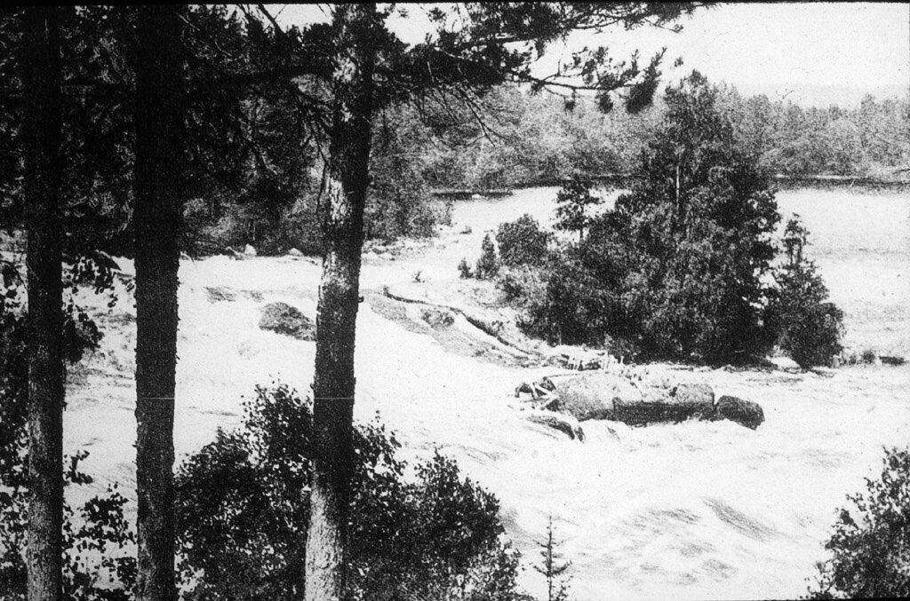 Водопад Малая Иматра на р. Вуоксе