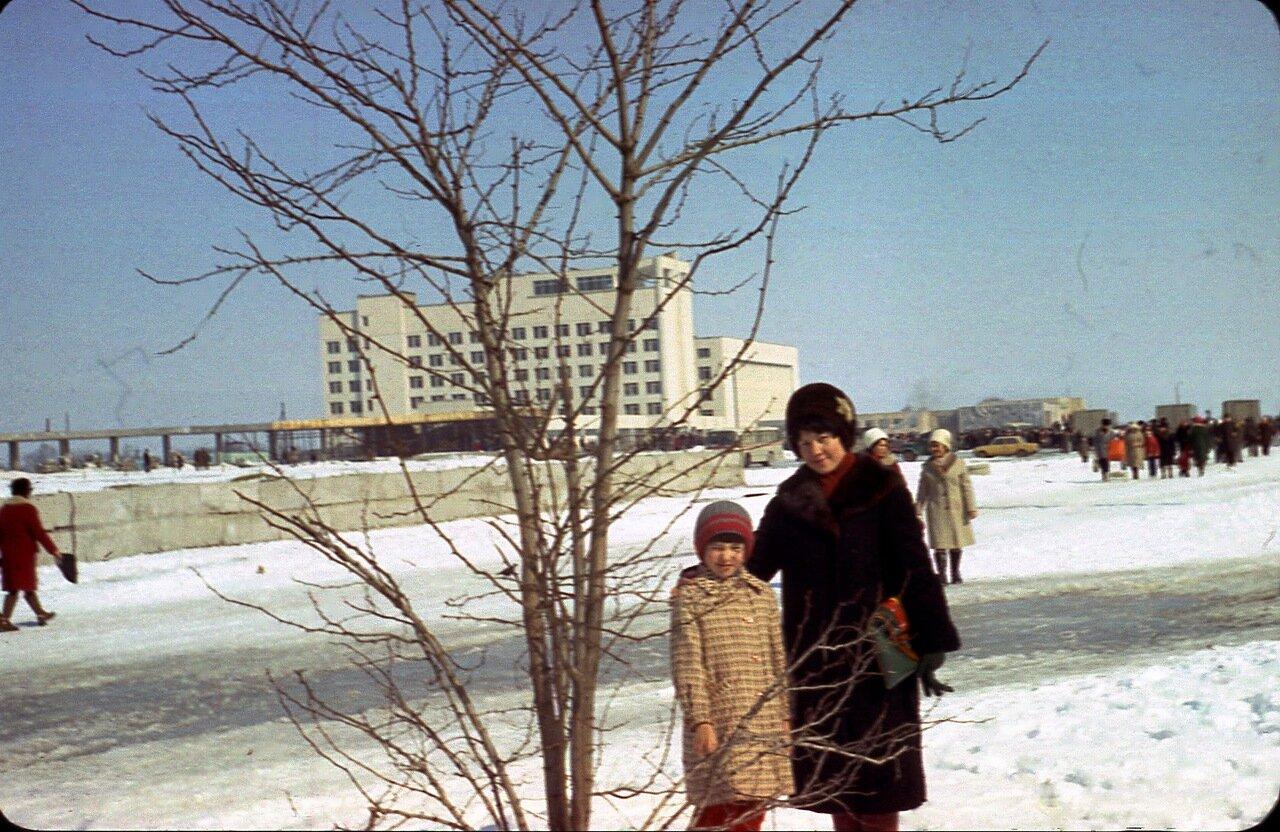 Зимой в центре Припяти.