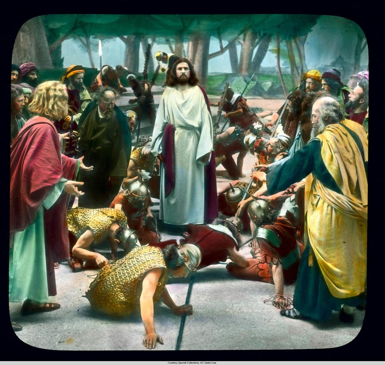 Обераммергау. Страсти Христовы. Взятие Иисуса под стражу