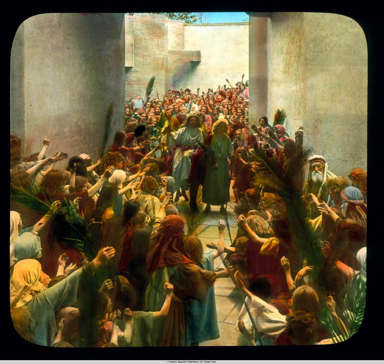 Обераммергау. Страсти Христовы. Иисус въезжает в Иерусалим