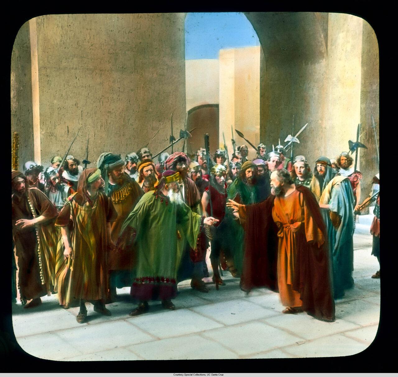 Обераммергау. Страсти Христовы. Иуда и члены Синедриона