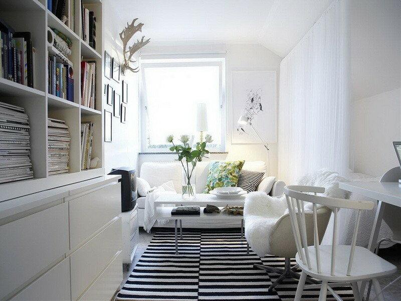 скандинавский стиль в маленьком помещении