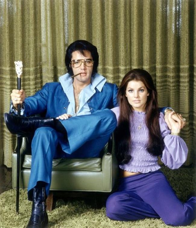 Элвис и Присцилла Пресли, 1971..jpg