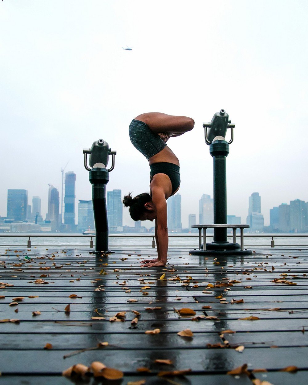 Incredible yoga cityscapes
