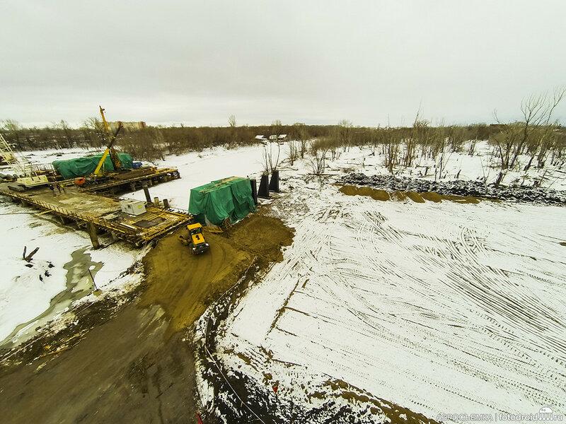 Ход строительства Фрунзенского моста. Февраль 2016