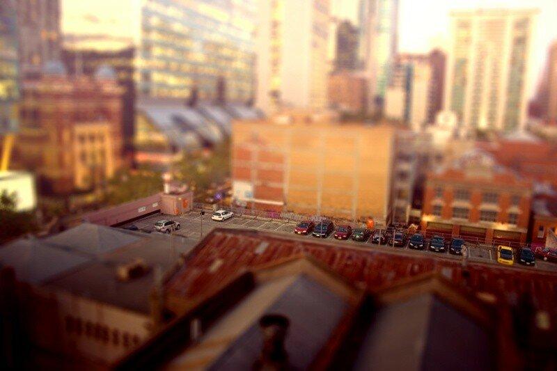 Игрушечный мир (фото в стиле Tilt Shift)