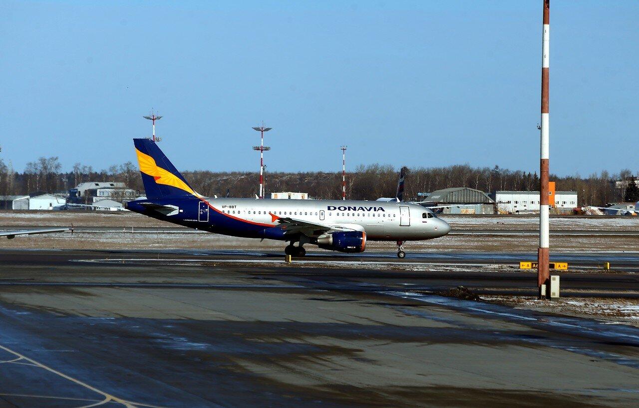 Аэропорт Шереметьево. A-319 VP-BBT Донавиа