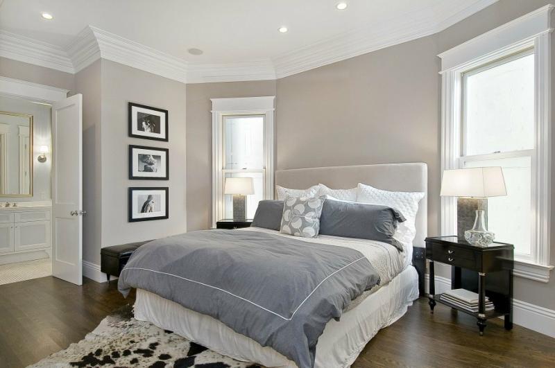 Дизайн интерьера спальни в светлых оттенках фото 11