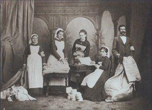 Медицинский персонал одной из санитарных частей, 1877