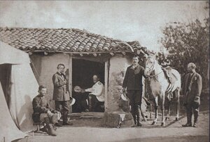 Граф Игнатьев среди сотрудников в Горной Студене, сентябрь 1877