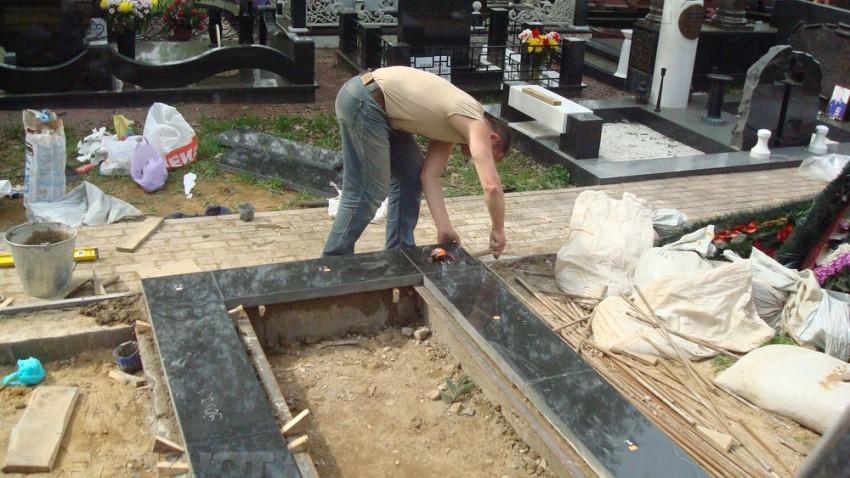 Надгробие из бетона своими руками