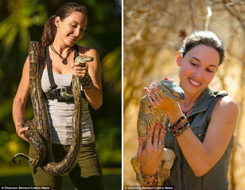 Шеннон признаёт, что её неоднократно кусали змеи и ящерицы.