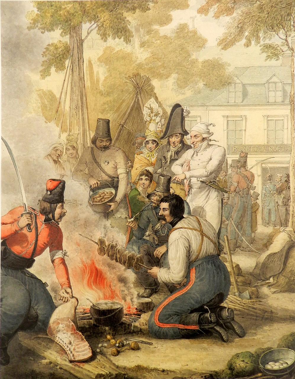19. Приготовление мяса в лагере казаков