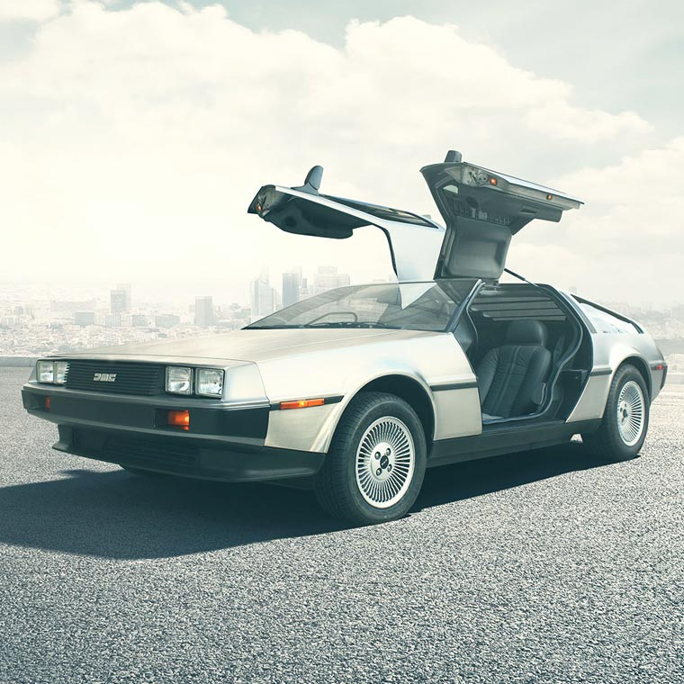The DeLorean from Back to the Future will be available again in 2017!