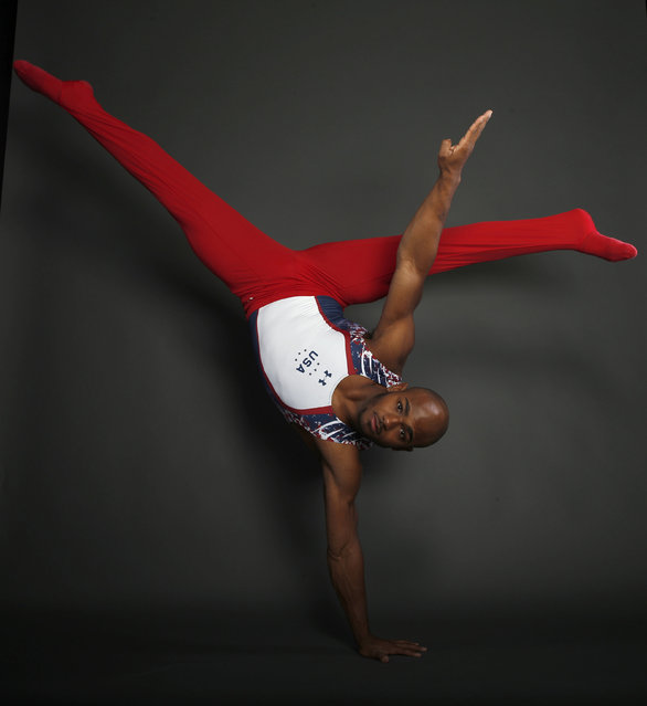 Gymnast John Orozco poses for a portrait at the U.S. Olympic Committee Media Summit in Beverly Hills