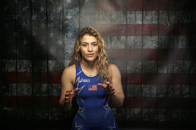 Wrestler Helen Maroulis poses for a portrait at the U.S. Olympic Committee Media Summit in Beverly H