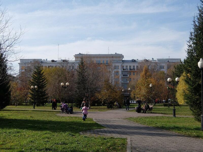 Новокузнецк - Сад Металлургов - Вид на проспект Металлургов