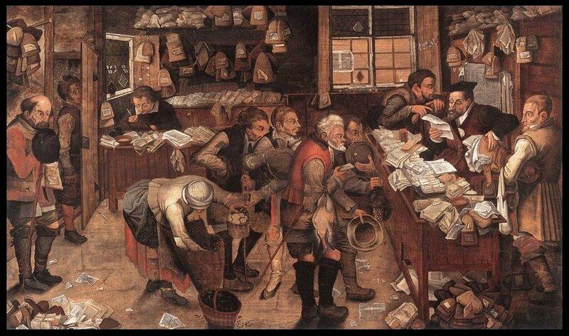 Питер Брейгель-младший. «Деревенский адвокат» («Кабинет деревенского адвоката»), 1618.jpg