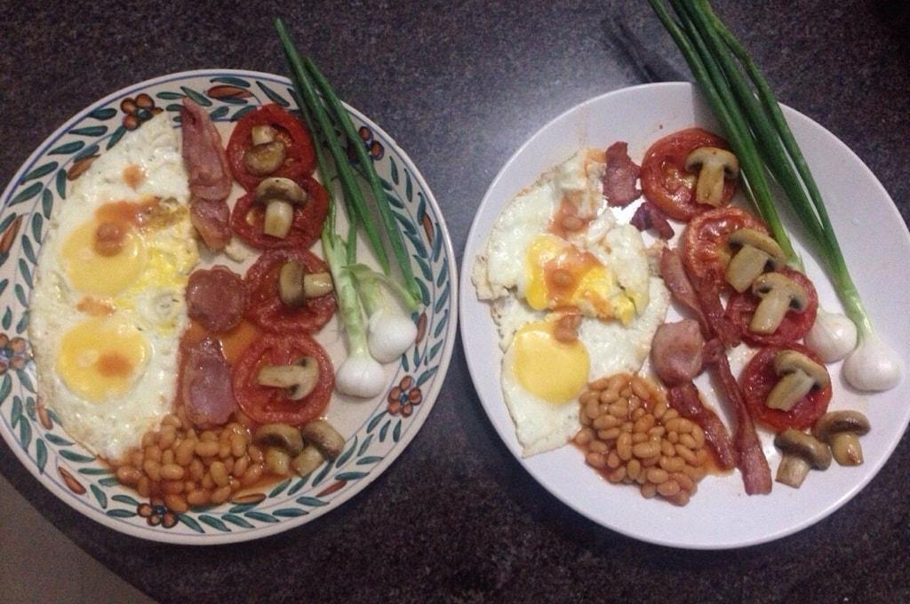 Попытка изобразить английский завтрак в домашних условиях