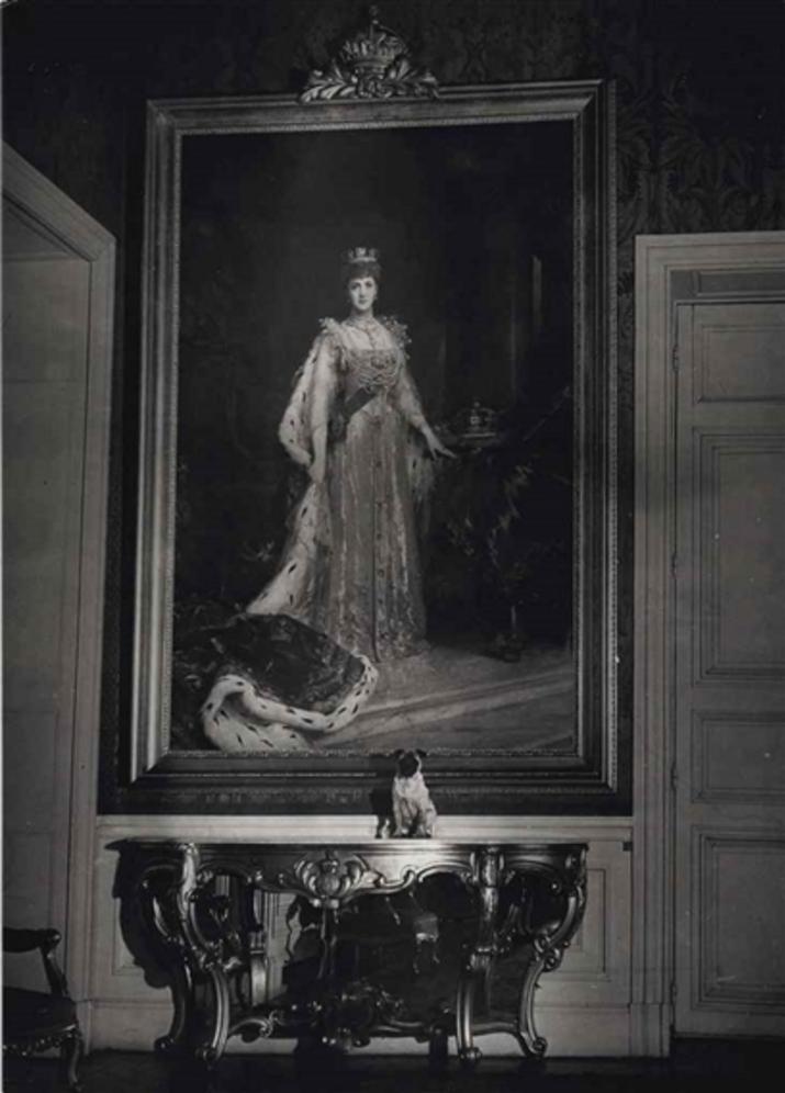 1935. Собака Ее Величества Королевы Марии в посольстве Великобритании
