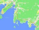 Схема трассы Владивосток-Находка-порт Восточный
