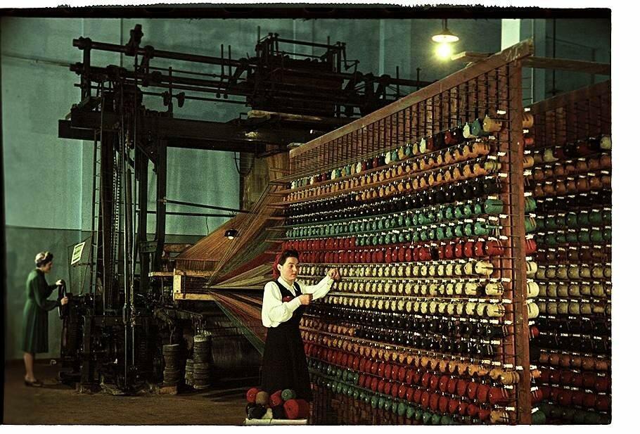 1951 Люберецкий ковровый комбинат. Ткацкие машины.jpg