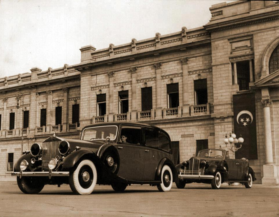 1940s Egypt Rolls Royce cars at the Royal Abdeen Palace.png