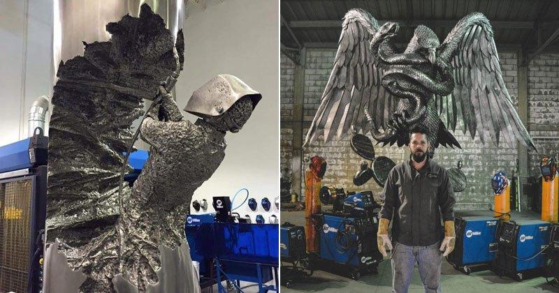 Сварщик создает удивительные скульптуры из металла