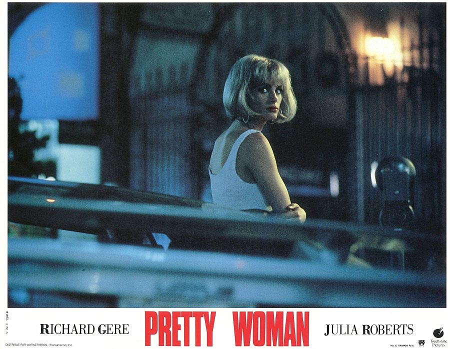 Джулия Робертс на съёмках фильма Красотка, 1990 год