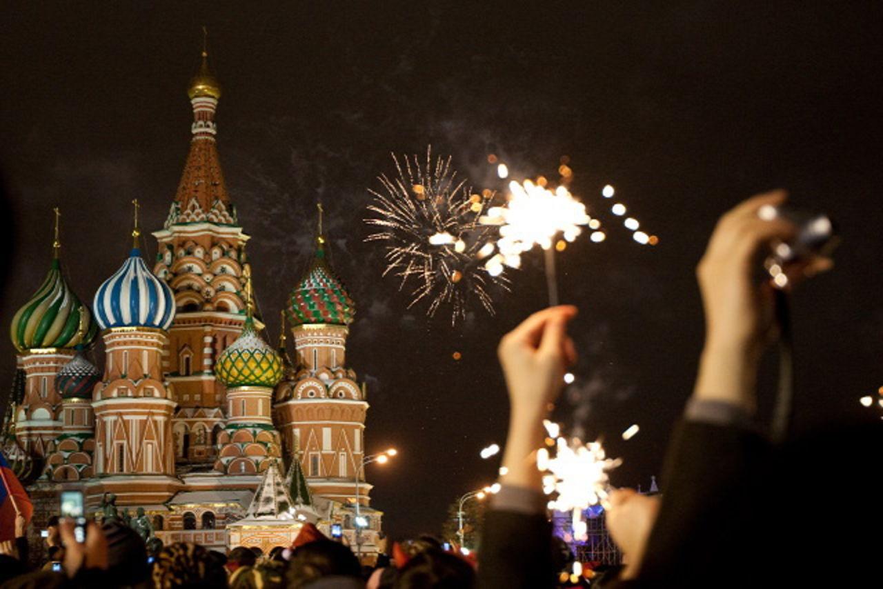 Встреча нового года в россии фото