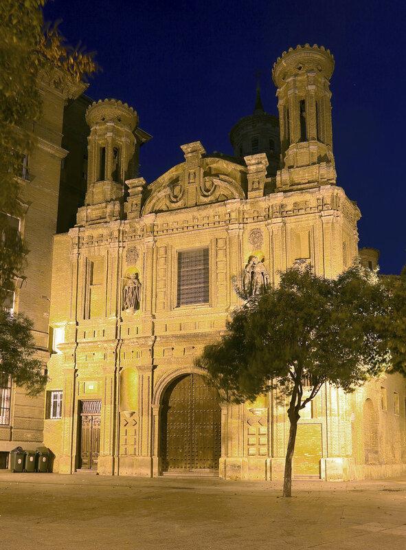 Ночная Сарагоса. Церковь Мантерии (Iglesia de la Mantería)